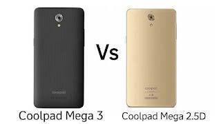 Coolpad Mega 3 vs Coolpad Mega 2.5D