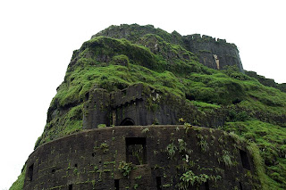 Lohagad fort walls