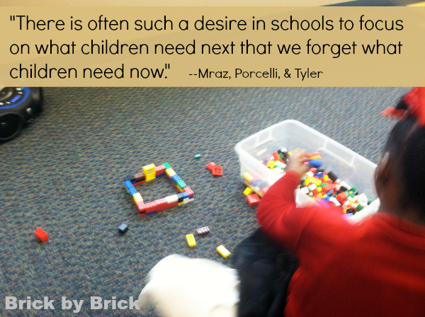 Purposeful Play Quote (Brick by Brick)