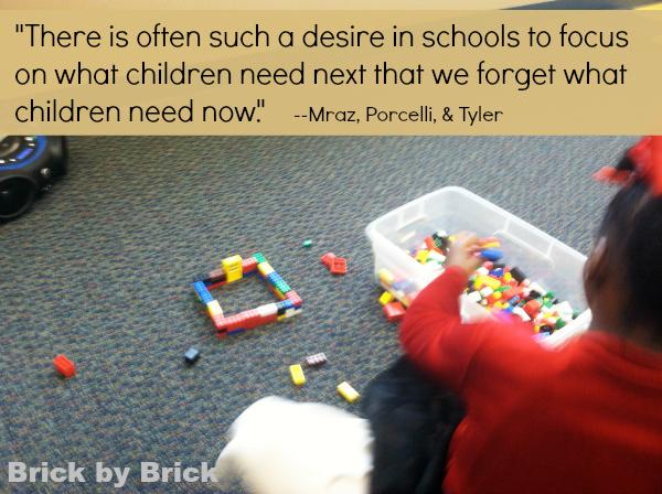 Purposeful Play Quote (Brick by Brick)