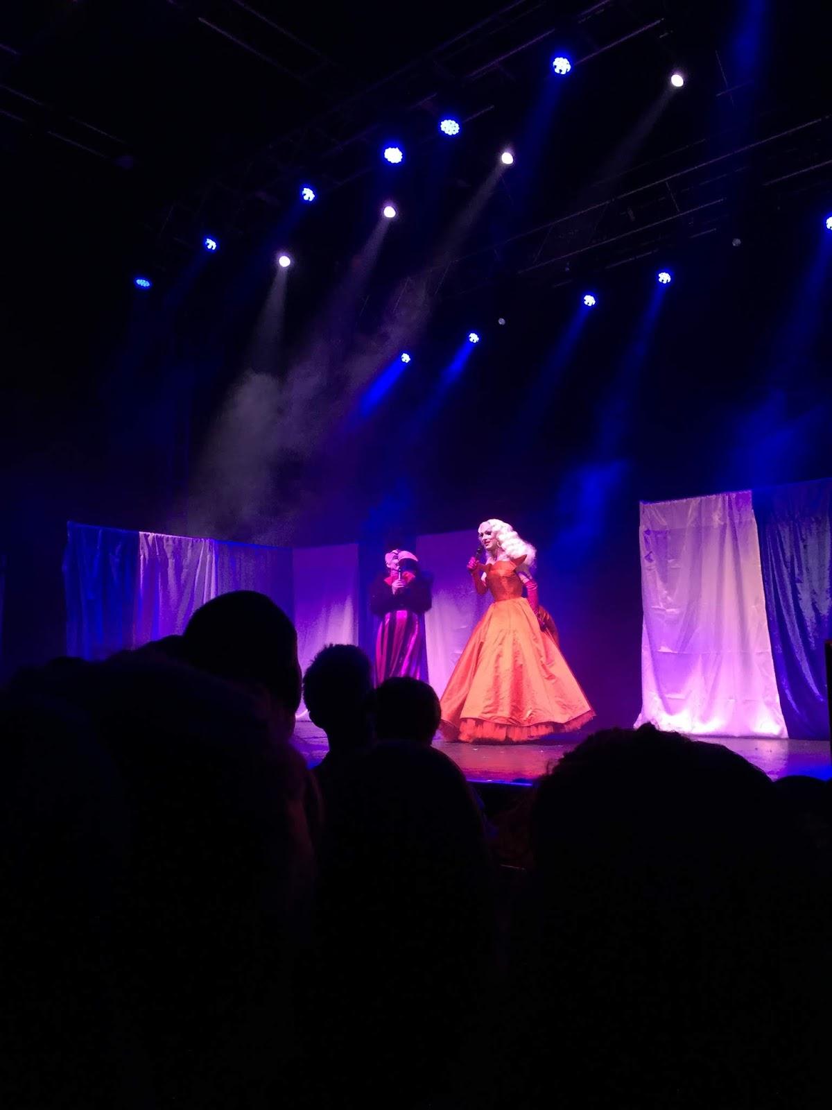 Sasha Velour and James St James on stage