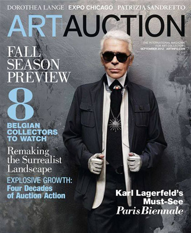 Karl Lagerfeld art and auction magazine