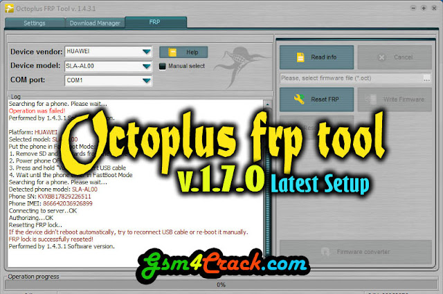 Download Octoplus FRP Tool v 1 7 0 Latest version 2019