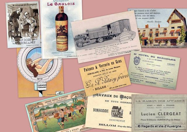Publicités anciennes d'Auvergne