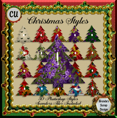 Christmas Styles And Seamless Tiles CU Freebie