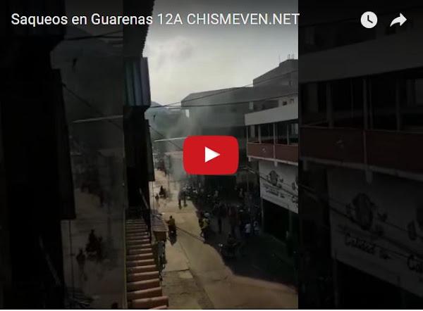 Vuelven los saqueos y disturbios a Guarenas este 12 de Abril