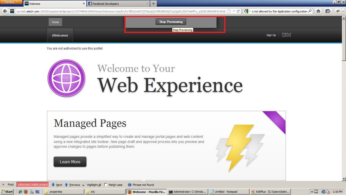 IBM Websphere Portal Server: Previewing as another user in ...