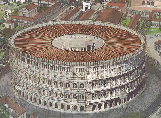 Representación del Coliseo de Roma