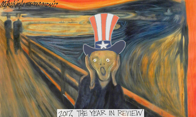 Title:  2017, the Year in Review.  Image:  Uncle Sam as the