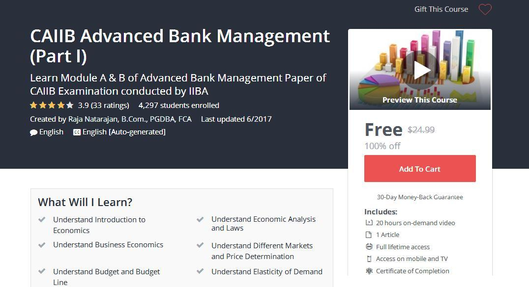 exm 2499 elective banking management part Caiib exam (certified associate of the indian institute of bankers) consists of 2 compulsory papers and one elective paper advanced bank management & bank financial management papers are compulsory.