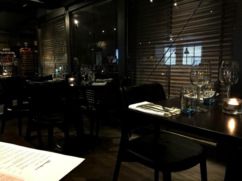 Inside No10 restaurant in Aberdeen