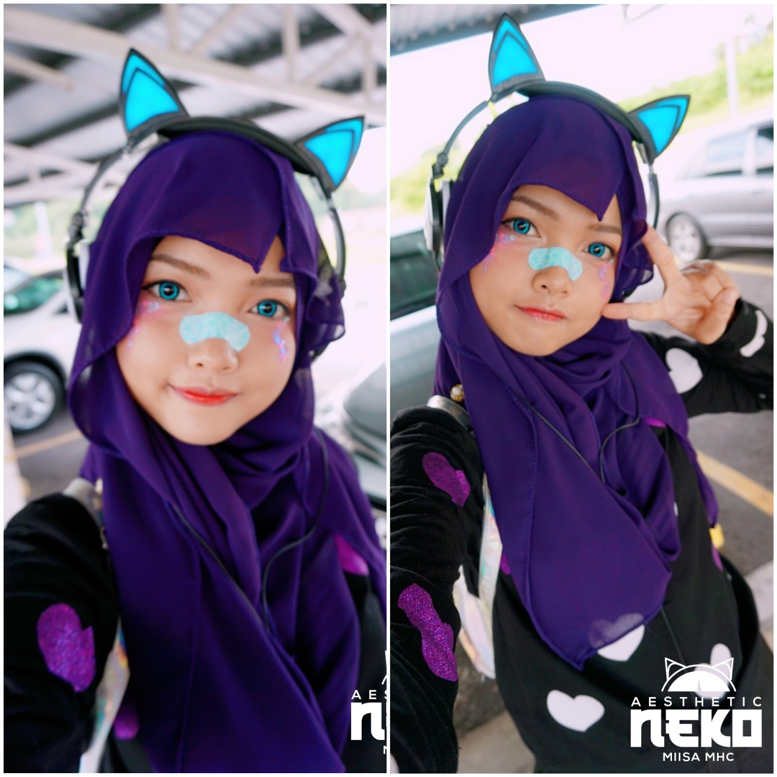 Miisa Hijab Cosplayer Yami Kawaii Inspired Fashion Look