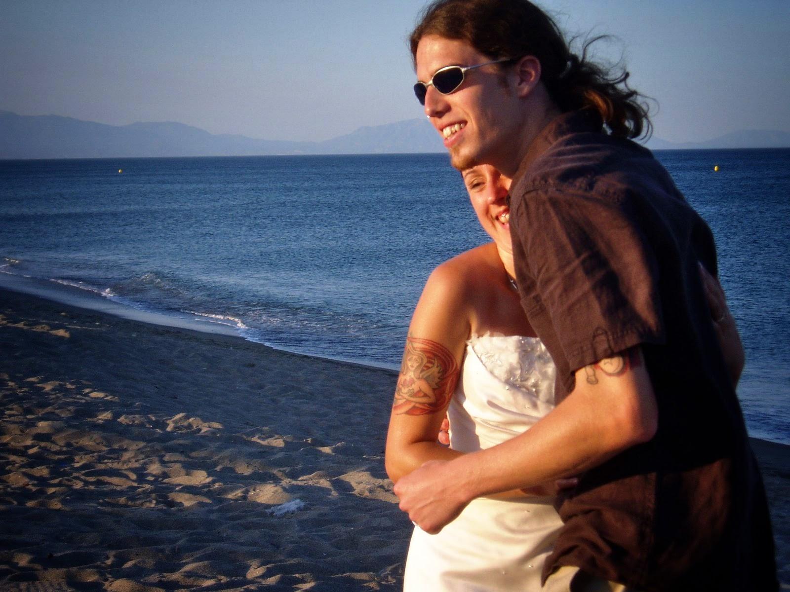 Wedding photos on the Estepona Beach