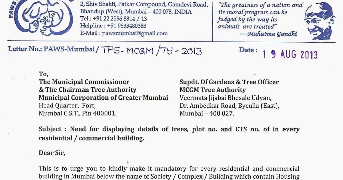 PAWS-Mumbai Press Kit Update PAWS-Mumbai send suggestion to MCGM