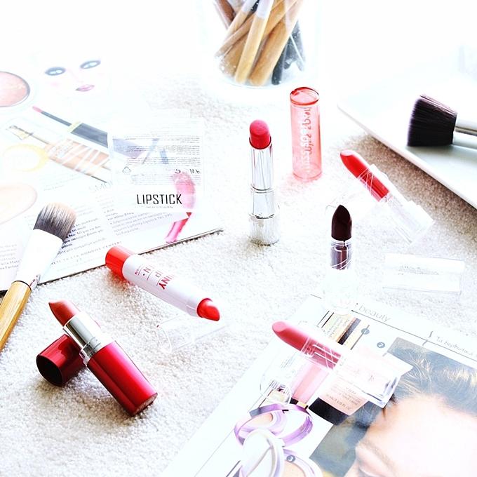 Spring drugstore lipsticks.Karmini za prolece.