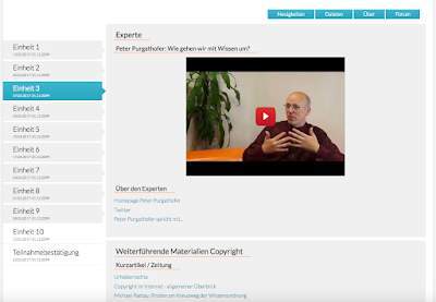 Screenshot from the GADI course, it shows a session overview and the first of two videos in this session.