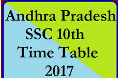 Andhra Pradesh SSC/10th Class Examination Time Table 2017
