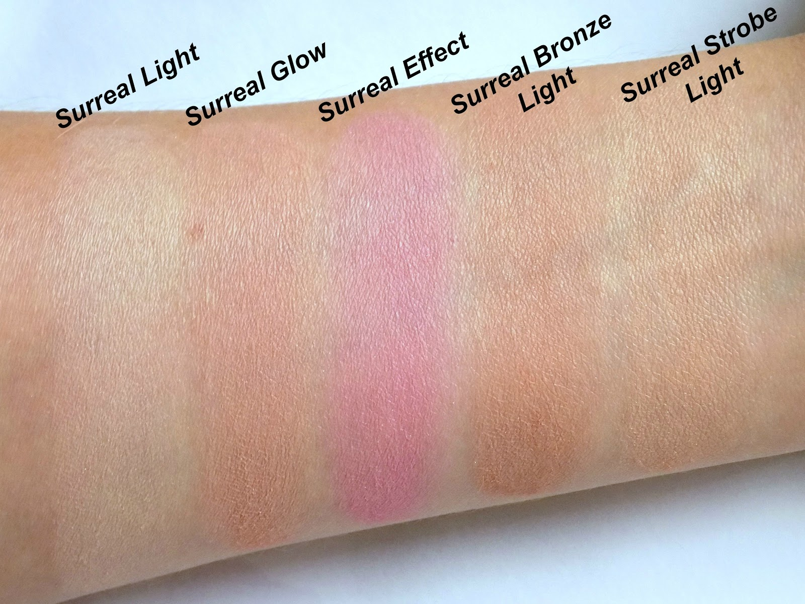 Hourglass Ambient Lighting Edit-Surreal Light palette swatches