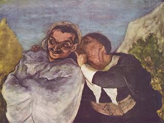Crispin et Scapin par Honoré Daumier