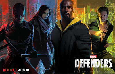 San Diego Comic-Con 2017 Exclusive Marvel's The Defenders Television Series Season 1 Teaser Poster by Joshua James Shaw