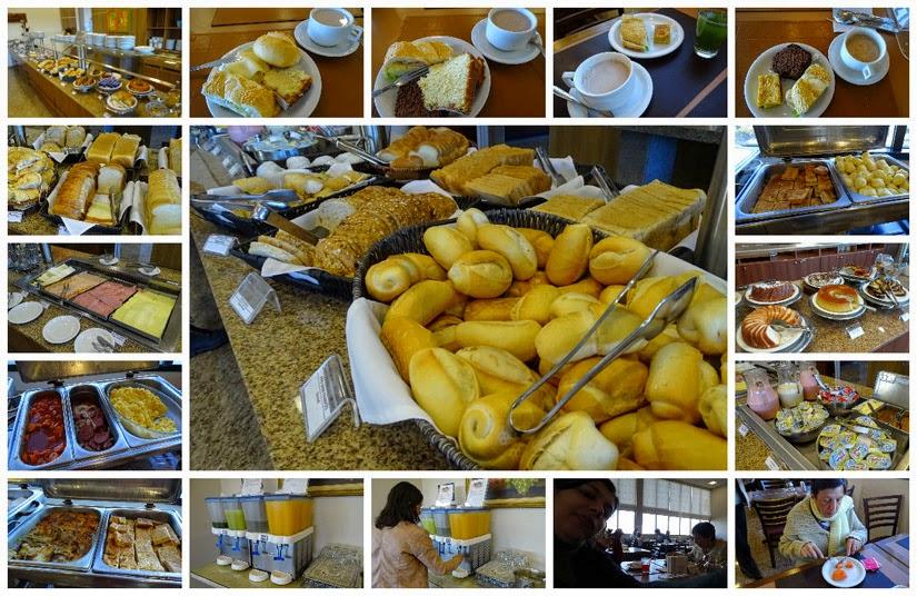 Café da manhã hotel Best Western Tarobá Foz do Iguaçu