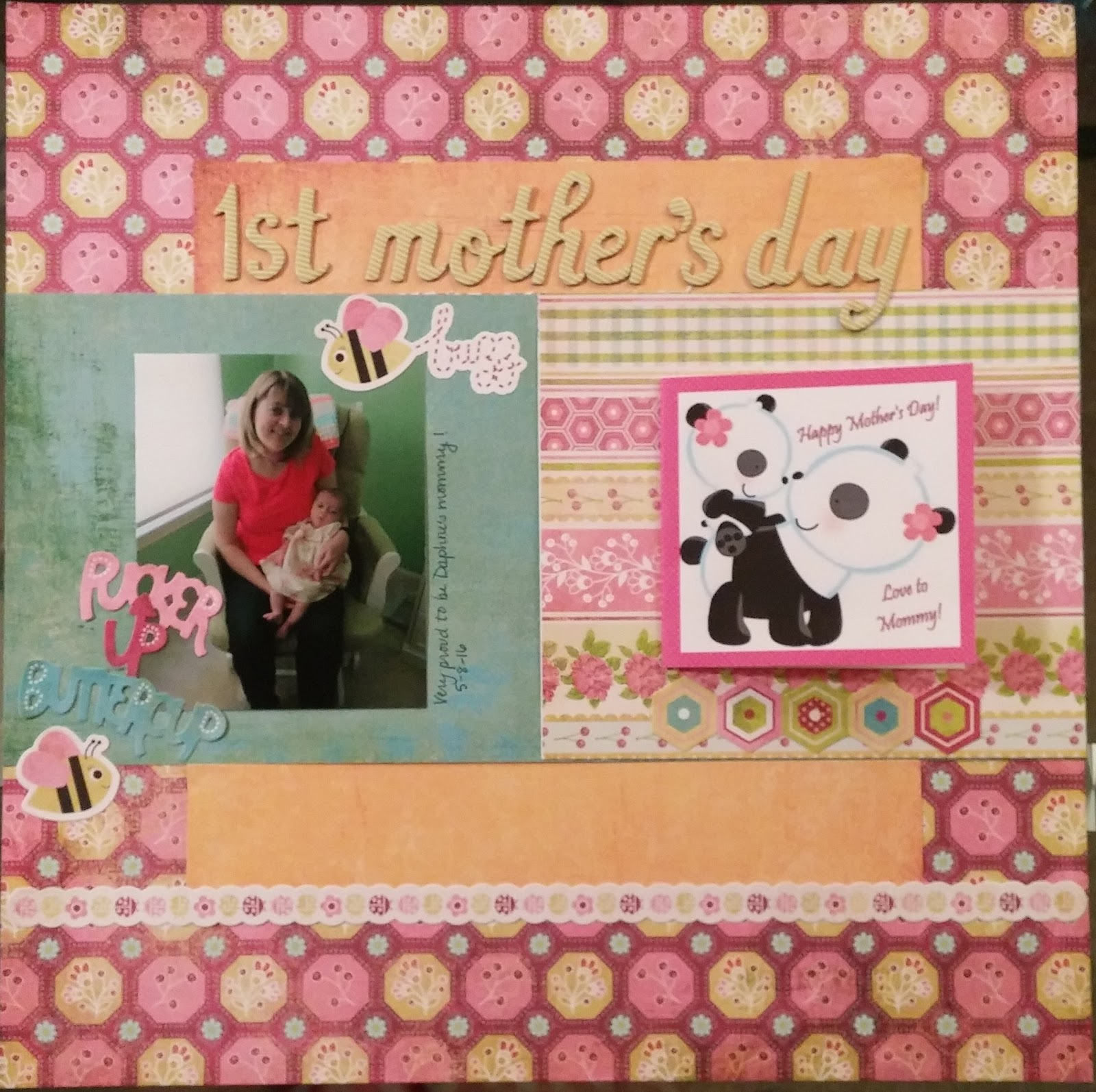 Cook Scrap Craft 1st Mothers Day Scrapbook Page