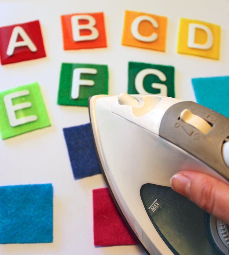 Make a cute felt alphabet matching game!