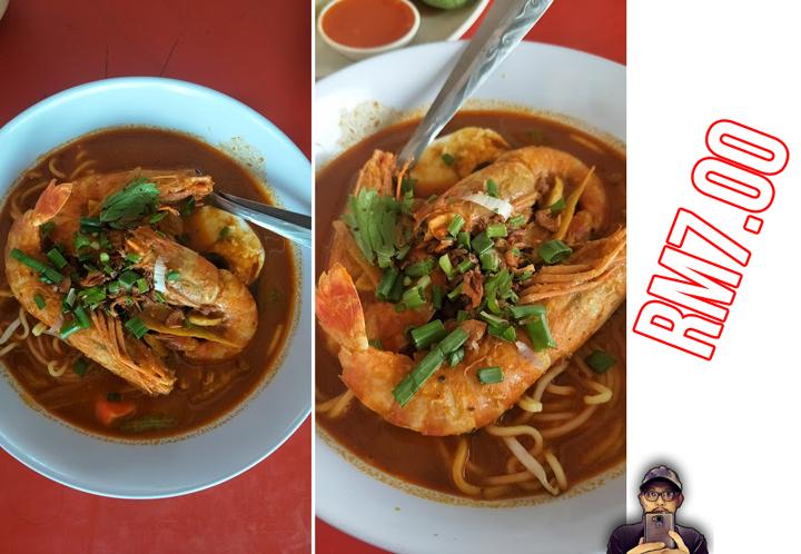 Mee Kari Udang Besar RM7 di Bagan Serai, Perak