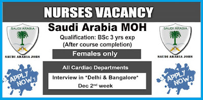 SAUDI OPEN MOH FOR STAFF NURSES - APPLY NOW