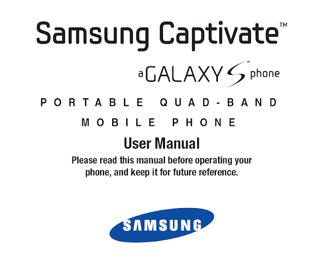 SAMSUNG CAPTIVATE SGH I897 USER MANUAL