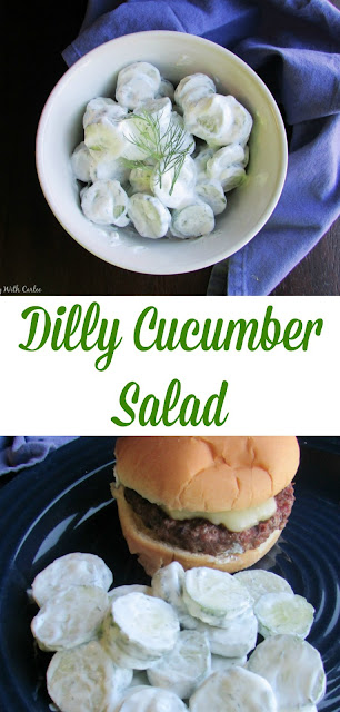 Fresh cucumbers are dressed in up in simple creamy dill sauce for a favorite refreshing summer side dish!