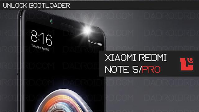 Cara Unlock Bootloader Xiaomi Redmi Note 5/Pro