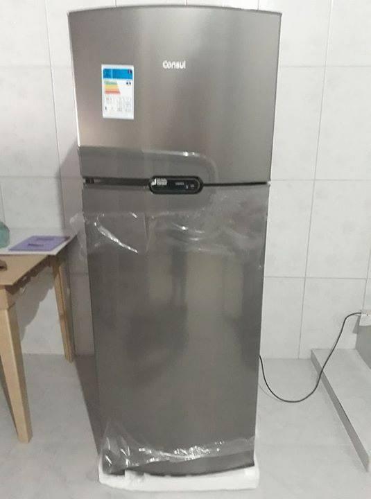 2a8f621ab FOTO REAL! (( SÓ 1599 ate 8x )) 🛒 Acesse  https   bit.ly 2P2pRcm ❄ Refrigerador  Consul Frost Free Duplex CRM38 340 Litros - Inox. Categorias   Geladeira