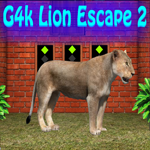 Play Games4King Lion Escape 2