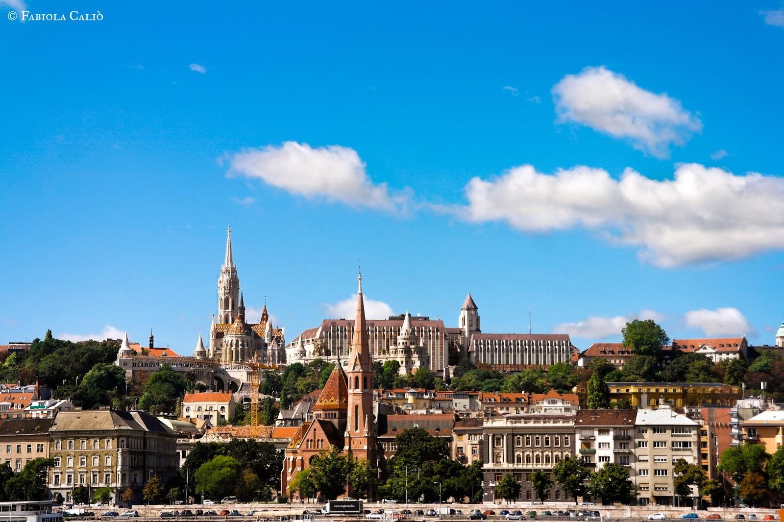 Budapest vista di Buda e della Collina del Castello