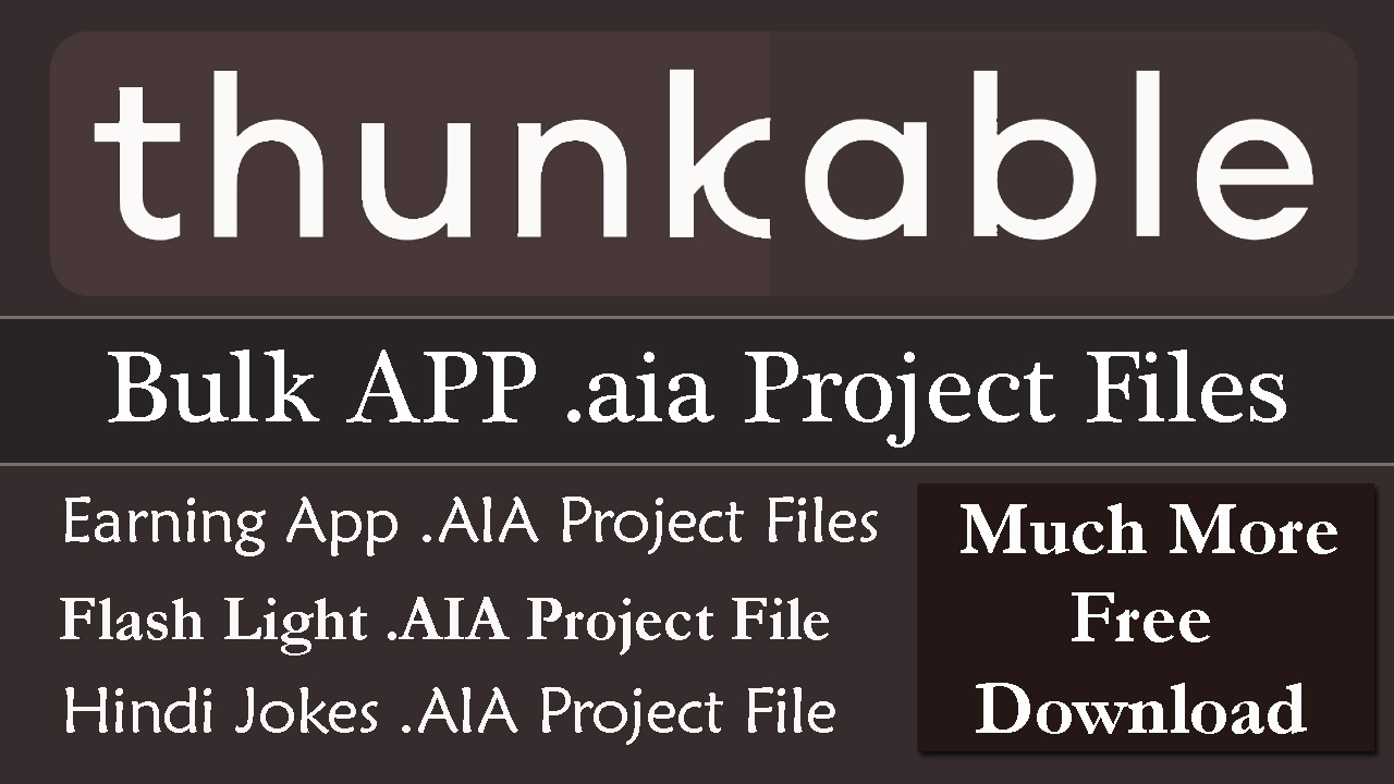 Farhan's Online Tutorials: Thunkable App Projects Download