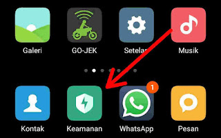 menu security / keamanan di hp xiaomi