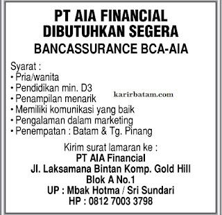 Lowongan Kerja PT. AIA Financial
