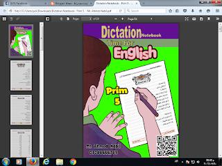 كراسة تسميع للغة الانجليزية للصف الخامس الابتدائي منهج Time For English 5 ترم اول Dictation Notebook  2017