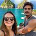 Juliana Paiva e Nicolas Prattes curtem férias