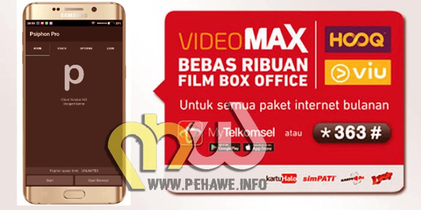 Trik Mengubah Videomax Menjadi Kuota Reguler Dengan Psiphon