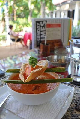 Gazpacho im Icebair Restaurant, Negombo