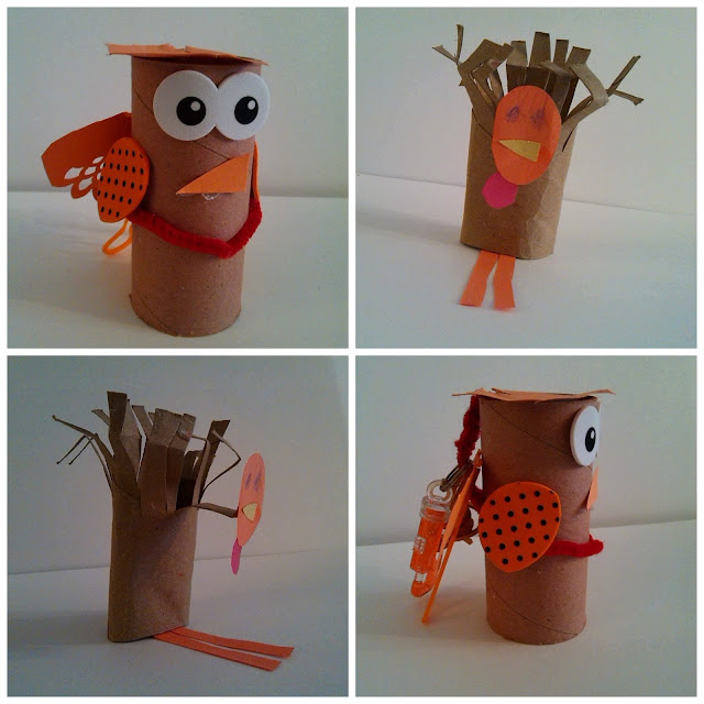 Easy Cardboard Toilet Tube Turkeys