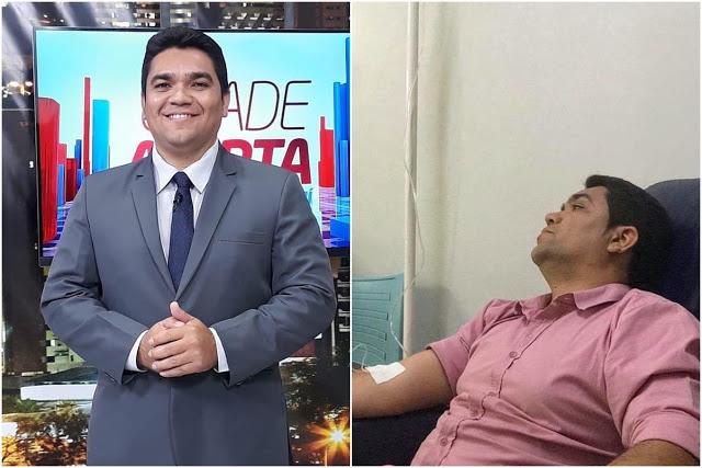 Após sofrer infarto, repórter Chico Filho da TV Antena 10 é internado em hospital