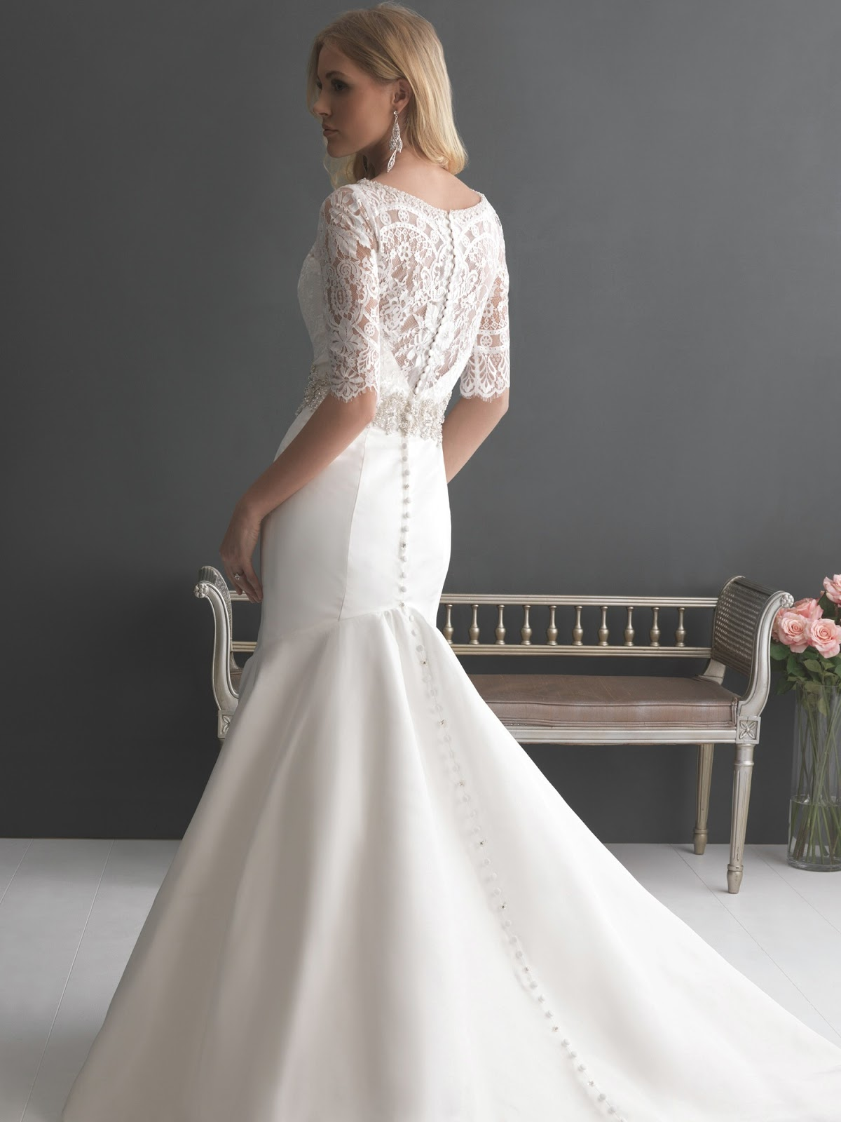 Dressybridal allure wedding dresses fall 2013 collection for Allure long sleeve wedding dress