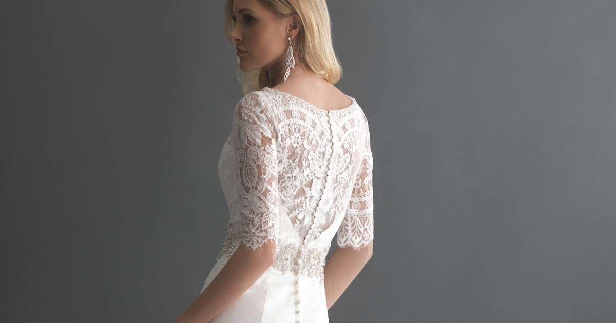Mermaid Wedding Gowns With Sleeves: Lace Mermaid Wedding Dress With Long Sleeves