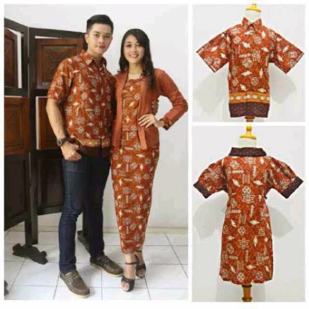 Model Seragam Baju Batik Pasangan Pria Wanita setelan rok blus