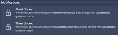 Website anasfim dot com infected with URL:Blacklist