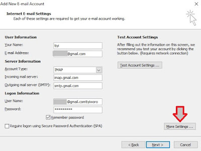 configure gmail on outlook email client