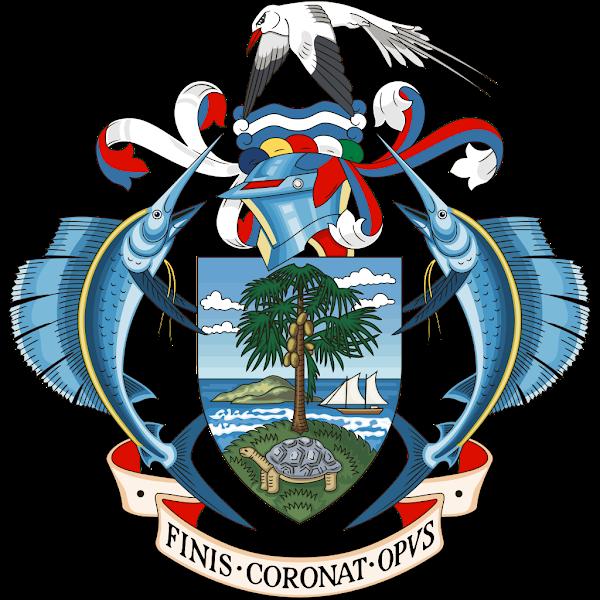 Logo Gambar Lambang Simbol Negara Seychelles PNG JPG ukuran 600 px